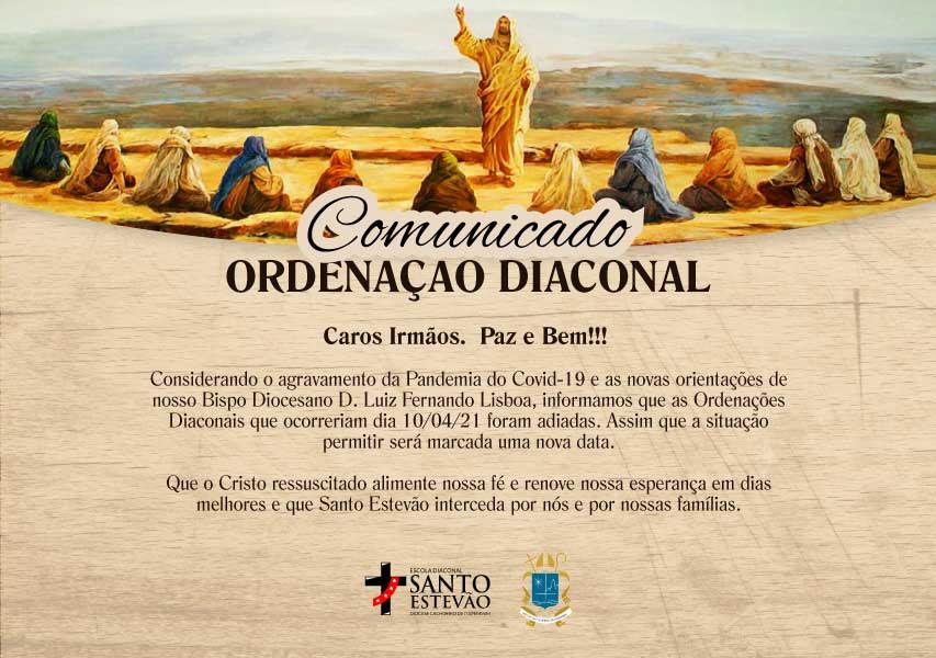 Comunicado Ordenação Diaconal